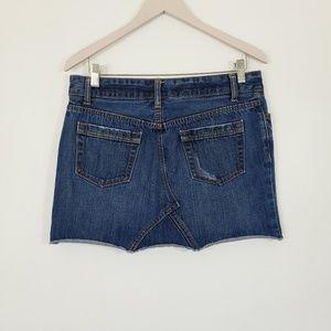 GAP Skirts - GAP JEANS Denim Distressed Mini Skirt